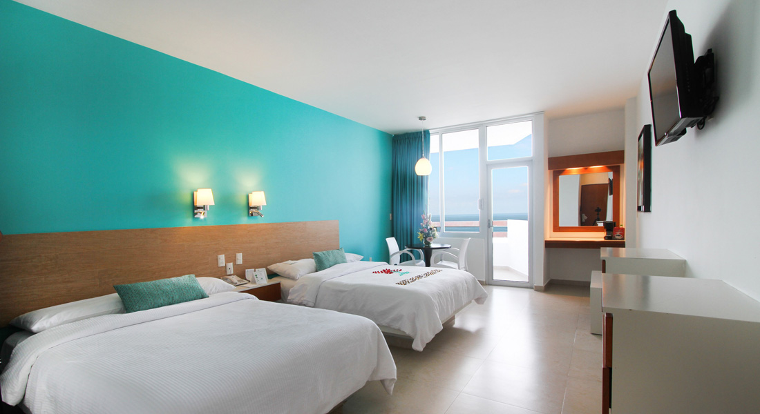Premium Ocean View Room, 2 double beds or 1 King bed